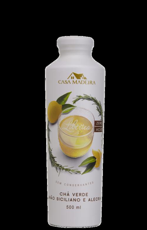 Chá Verde Com Limão Siciliano e Alecrim